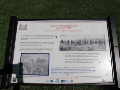 Fight at Rogersville Marker image. Click for full size.