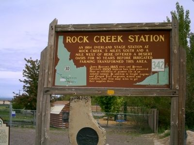 Rock Creek Station Marker image. Click for full size.