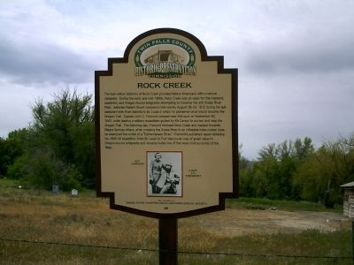 Rock Creek Marker image. Click for full size.