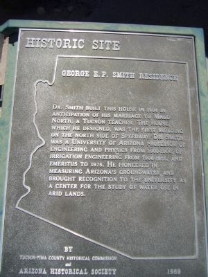 George E. P. Smith Residence Marker image. Click for full size.