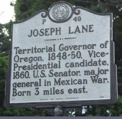 Joseph Lane Marker image. Click for full size.