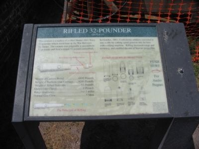 Rifled 32-pounder Marker image. Click for full size.