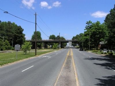 Wide view of the Plank Road Marker image. Click for full size.