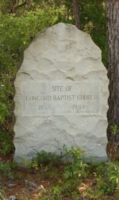 Concord Baptist Church Marker image. Click for full size.