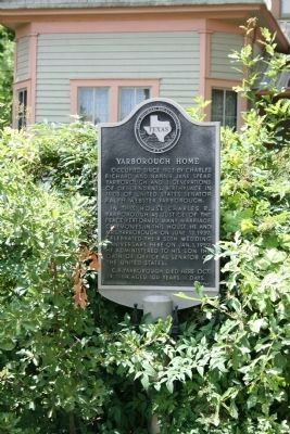 Yarborough House Marker image. Click for full size.