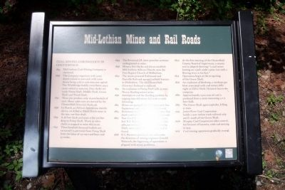 Mid-Lothian Mines and Rail Roads Marker image. Click for full size.