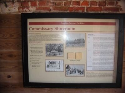 Commissary Storeroom Interpretation image. Click for full size.