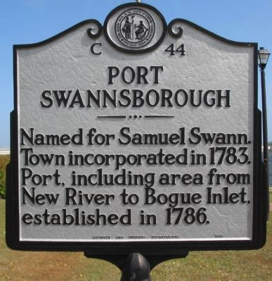 Port Swannsborough Marker image. Click for full size.