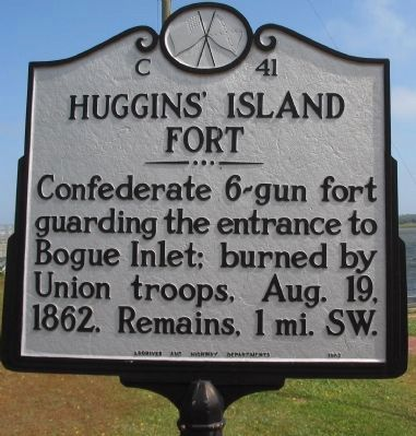 Huggins' Island Fort Marker image. Click for full size.