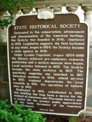 State Historical Society Marker image. Click for full size.