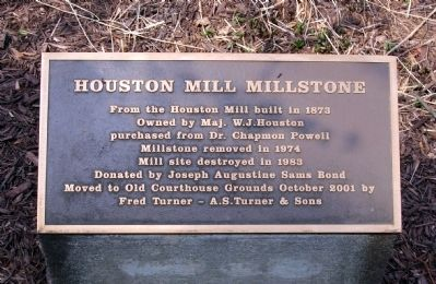 Houston Mill Millstone Marker image. Click for full size.