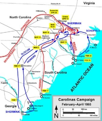 Movements in Carolinas Campaign image. Click for full size.