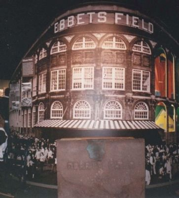 Ebbets Field Cornerstone at Cooperstown Hall of Fame image. Click for full size.