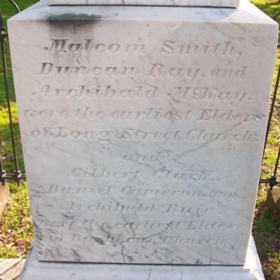 Rev. James Campbell Gravesite image. Click for full size.