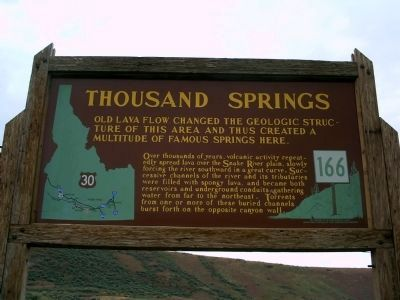 Thousand Springs Marker image. Click for full size.