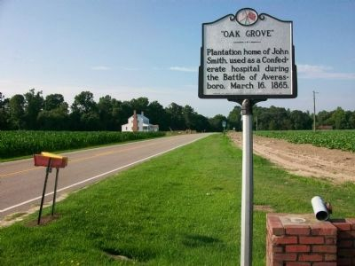 Oak Grove Marker & Former Hospital image. Click for full size.