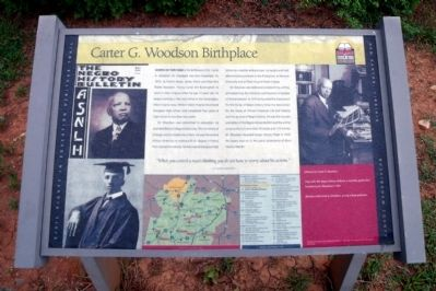 Carter G. Woodson Birthplace CRIEHT Marker image. Click for full size.