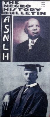 (Top) <i>The Negro History Bulletin</i> (Bottom) Carter G. Woodson image. Click for full size.
