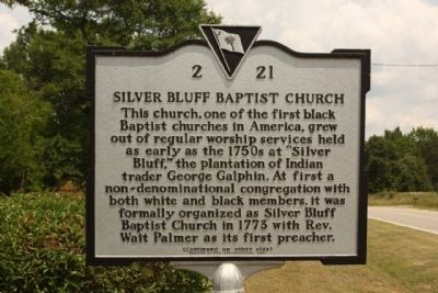 Silver Bluff Baptist Church Marker image. Click for full size.