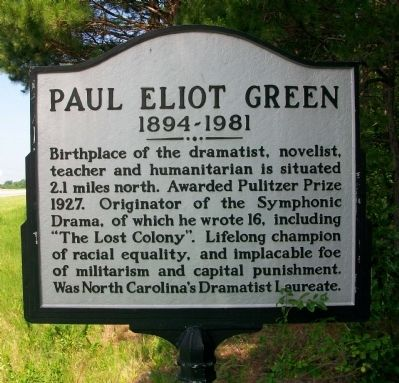 Paul Eliot Green Marker image. Click for full size.