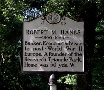 Robert M. Hanes Marker image. Click for full size.