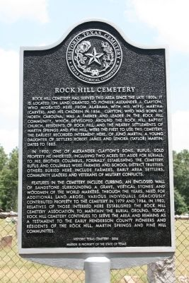 Rock Hill Cemetery Marker image. Click for full size.