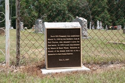 Rock Hill Cemetery Information Marker image. Click for full size.