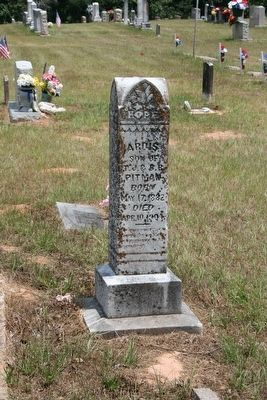 An example of a gravestone in Rock Hill Cemetery image. Click for full size.