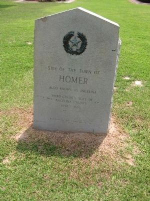 Site of the town of Homer Marker image. Click for full size.