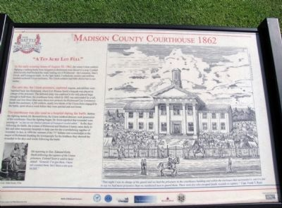Madison County Courthouse 1862 Marker image. Click for full size.