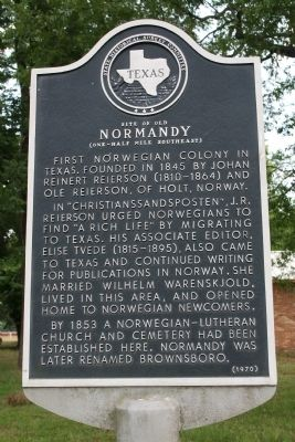 Site Of Old Normandy Marker image. Click for full size.