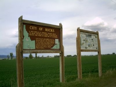City of Rocks Marker Along State Highway 27 image. Click for full size.