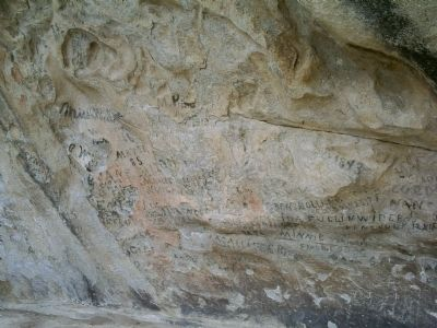 Pioneer Markings at the City of Rocks image. Click for full size.