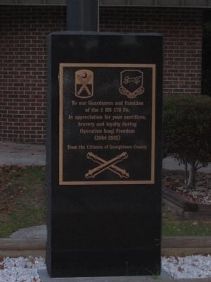 1st Battalion 178th Field Artillery Memorial image. Click for full size.