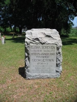 Gravestone of Elisha Screven image. Click for full size.