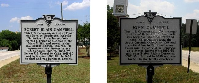 Robert Blair Campbell / John Campbell Marker image. Click for full size.