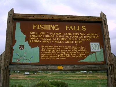 Fishing Falls Marker image. Click for full size.