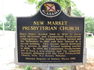 New Market Presbyterian Church Marker image. Click for full size.