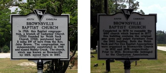 Brownsville Baptist Church Marker image. Click for full size.