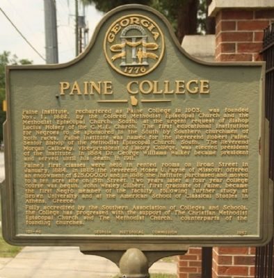 Paine College Marker image. Click for full size.
