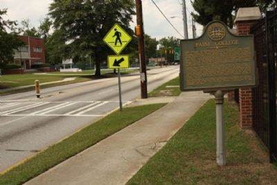 Paine College Marker, looking north along Druid Park Avenue image. Click for full size.