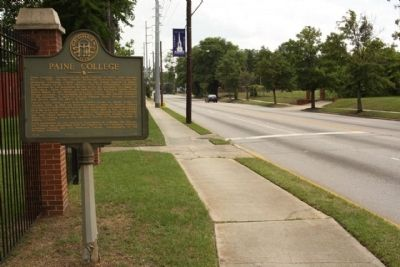 Paine College Marker, looking south image. Click for full size.
