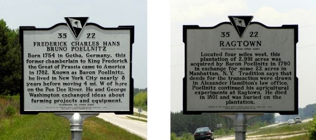 Frederick Charles Hans Bruno Poellnitz / Ragtown Marker image. Click for full size.