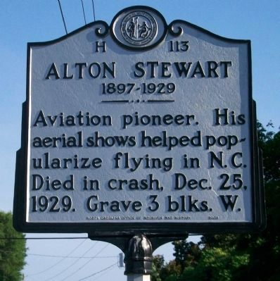 Alton Stewart Marker image. Click for full size.