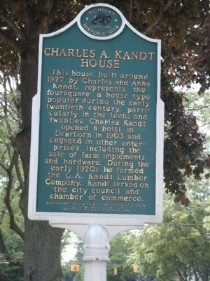 Charles A. Kandt House Marker image. Click for full size.