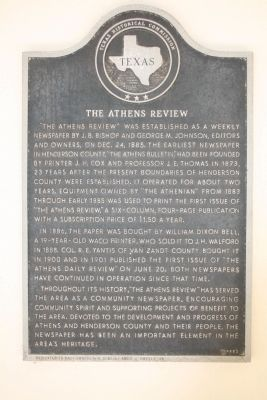 The Athens Review Marker image. Click for full size.