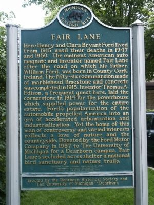 Fair Lane Marker image. Click for full size.