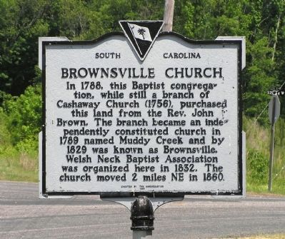 Brownsville Church Marker image. Click for full size.