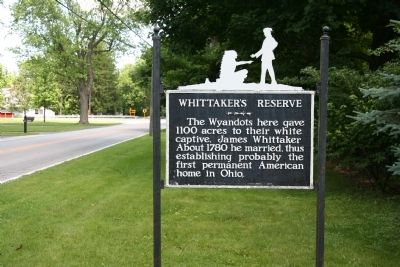 Whittaker's Reserve Marker image. Click for full size.