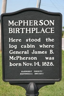 McPherson Birthplace Marker image. Click for full size.